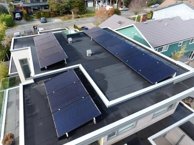 Boundary-Bay-Delta solar panel installation