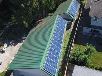 solar power installation ladner