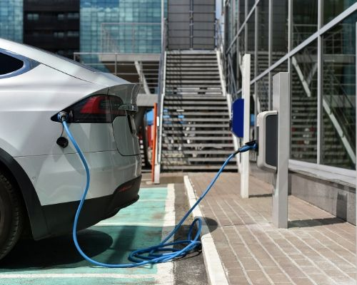 ev cars charging for parking